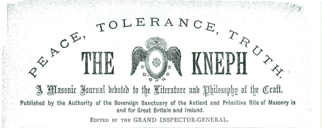 Example of a front-page logo of the Kneph journal.